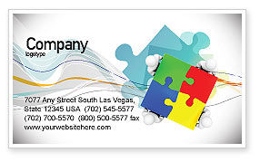 Consulting: Puzzle Solved Business Card Template #07757