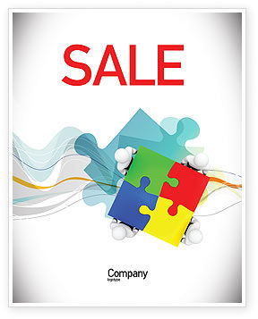 Puzzle Solved Sale Poster Template, 07757, Consulting — PoweredTemplate.com