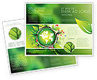 Nature & Environment: Blooming Earth Concept Brochure Template #07758