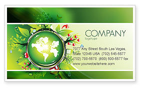 Blooming Earth Concept Business Card Template
