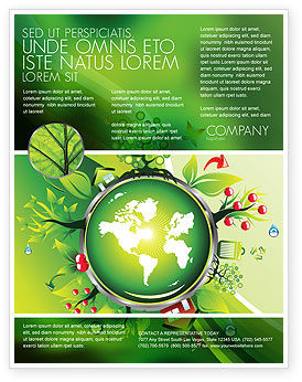 Nature & Environment: Blooming Earth Concept Flyer Template #07758
