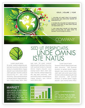 Blooming Earth Concept Newsletter Template, 07758, Nature & Environment — PoweredTemplate.com