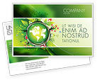 Nature & Environment: Blooming Earth Concept Postcard Template #07758