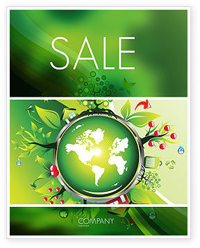 Nature & Environment: Blooming Earth Concept Sale Poster Template #07758