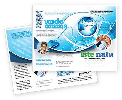 Technology, Science & Computers: Internet Concept Brochure Template #07768