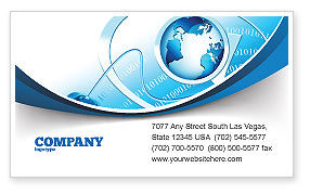 Technology, Science & Computers: Internet Concept Business Card Template #07768