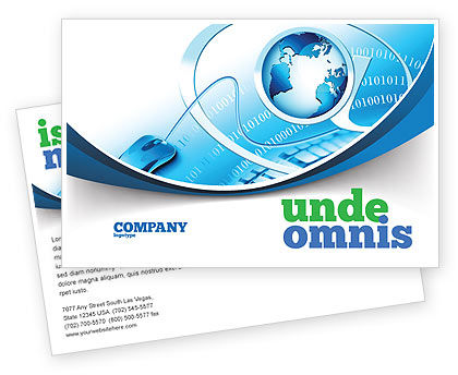 Internet Concept Postcard Template, 07768, Technology, Science & Computers — PoweredTemplate.com