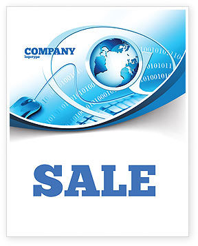 Technology, Science & Computers: Internet Concept Sale Poster Template #07768