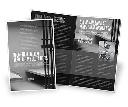 Prison Cell Brochure Template