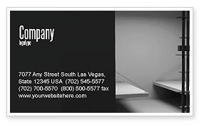 Legal: Prison Cell Business Card Template #07771