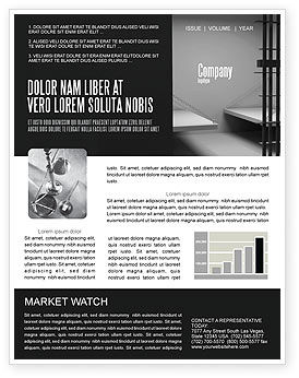 Prison Cell Newsletter Template
