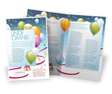 Greeting Card Brochure Template, 07775, Holiday/Special Occasion — PoweredTemplate.com