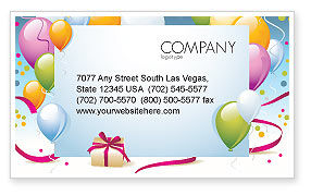 Greeting Card Business Card Template, 07775, Holiday/Special Occasion — PoweredTemplate.com