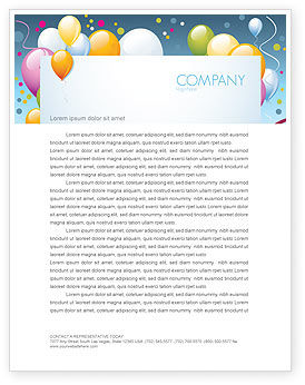 Greeting Card Letterhead Template, 07775, Holiday/Special Occasion — PoweredTemplate.com