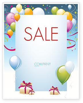Greeting Card Sale Poster Template, 07775, Holiday/Special Occasion — PoweredTemplate.com