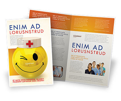 Modello Brochure - Dottore emoticon, 07777, Medico — PoweredTemplate.com