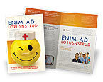 Medical: Doctor Emoticon Brochure Template #07777