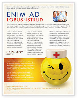 Medical: Doctor Emoticon Flyer Template #07777