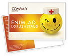 Medical: Doctor Emoticon Postcard Template #07777