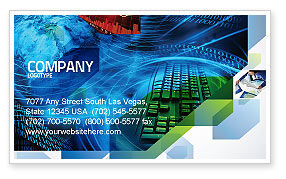 Technology, Science & Computers: Keyboard Theme Business Card Template #07780
