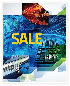 Keyboard Theme Sale Poster Template, 07780, Technology, Science & Computers — PoweredTemplate.com