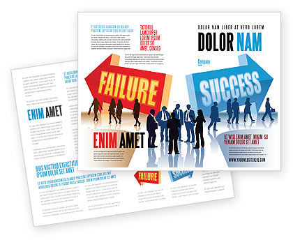 Failure and Success Brochure Template, 07789, Education & Training — PoweredTemplate.com