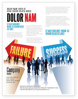 Failure and Success Flyer Template, 07789, Education & Training — PoweredTemplate.com
