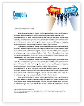 Failure and Success Letterhead Template, 07789, Education & Training — PoweredTemplate.com