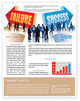 Education & Training: Failure and Success Newsletter Template #07789