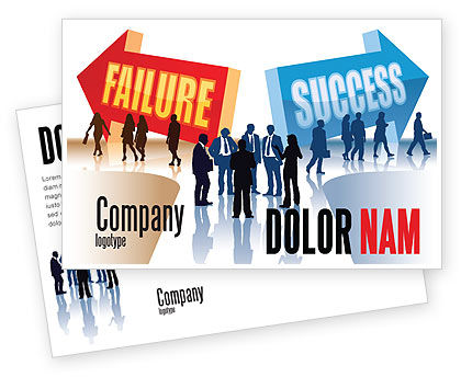 Failure and Success Postcard Template, 07789, Education & Training — PoweredTemplate.com