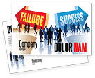 Education & Training: Failure and Success Postcard Template #07789