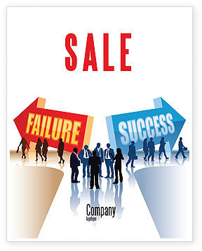 Education & Training: Failure and Success Sale Poster Template #07789