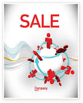 Peoples Network Sale Poster Template, 07795, Careers/Industry — PoweredTemplate.com