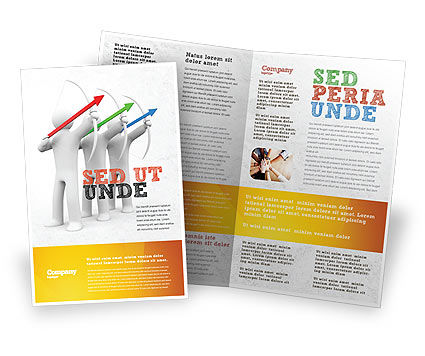 Archers Brochure Template, 07800, Business Concepts — PoweredTemplate.com