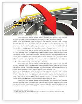Breakthrough Solution Letterhead Template, 07801, Consulting — PoweredTemplate.com