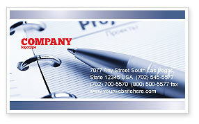 Business Concepts: Project Description Business Card Template #07802