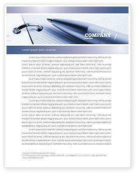 Business Concepts: Project Description Letterhead Template #07802