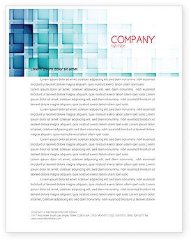 Abstract Geometric Pattern Letterhead Template, 07804, Abstract/Textures — PoweredTemplate.com