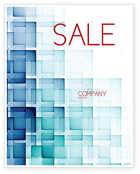 Abstract Geometric Pattern Sale Poster Template, 07804, Abstract/Textures — PoweredTemplate.com