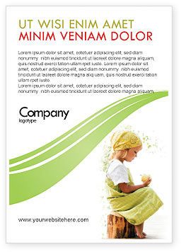 People: Little Girl Ad Template #07818