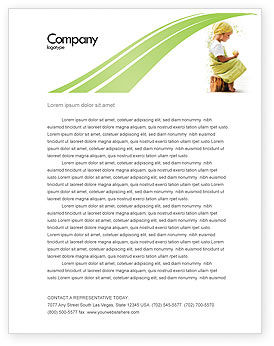 People: Little Girl Letterhead Template #07818