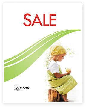 People: Little Girl Sale Poster Template #07818