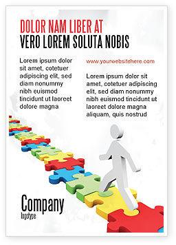 Careers/Industry: 拼图路径广告模板 #07872