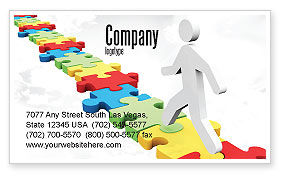 Careers/Industry: Jigsaw Path Business Card Template #07872