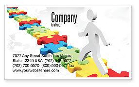 Jigsaw Path Business Card Template, 07872, Careers/Industry — PoweredTemplate.com