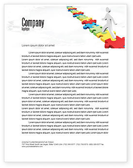 Jigsaw Path Letterhead Template, 07872, Careers/Industry — PoweredTemplate.com