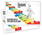 Careers/Industry: Jigsaw Path Postcard Template #07872