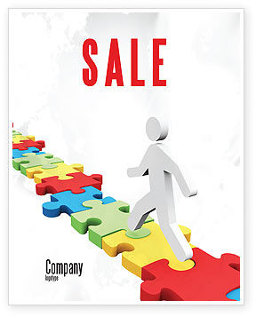 Jigsaw Path Sale Poster Template, 07872, Careers/Industry — PoweredTemplate.com