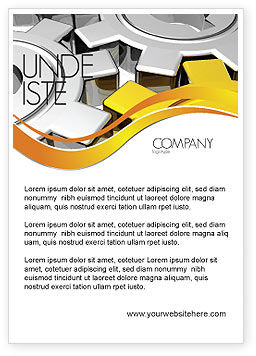 Utilities/Industrial: Spinning Gears Ad Template #07888