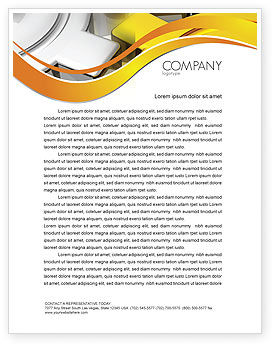 Spinning Gears Letterhead Template, 07888, Utilities/Industrial — PoweredTemplate.com